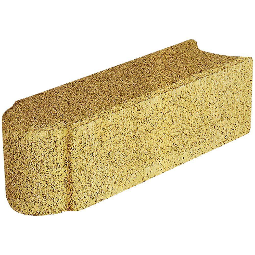 Pavestone Edgestone 12 in. x 3.5 in. x 3.5 in. Buff Concrete Edger ...