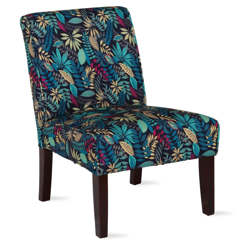 Dorel Living Teagan Armless Floral Accent Chair Fa164