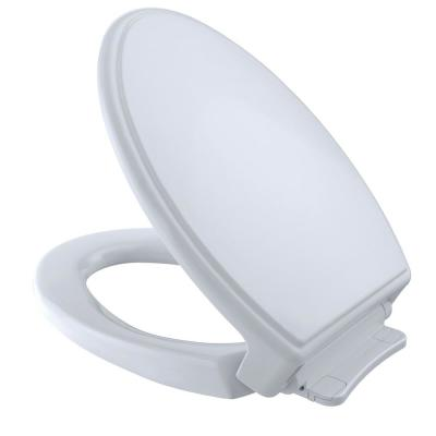 Traditional SoftClose Elongated Closed Front Toilet Seat in Cotton White