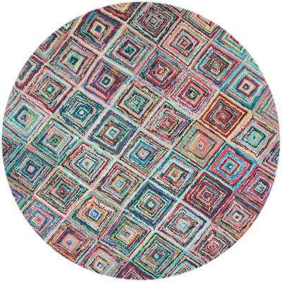 Nantucket Multi 8 ft. x 8 ft. Round Area Rug