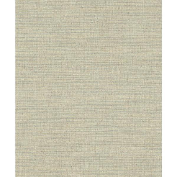 Advantage 57.8 sq. ft. Ashleigh Yellow Linen Texture Wallpaper 2812-AR40127