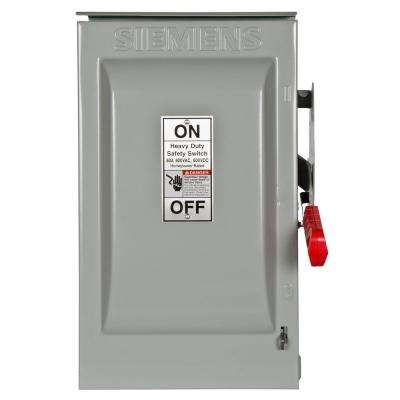 Heavy Duty 60 Amp 600-Volt 2-Pole Outdoor Non-Fusible Safety Switch