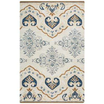 Valintino Ivory Hand Tufted Wool 9 ft. x 12 ft. Area Rug