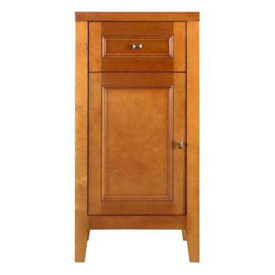 Exhibit 17-1/2 in. W x 35 in. H x 14-3/4 in. D Wood Bathroom Linen Storage Floor Cabinet in Rich Cinnamon