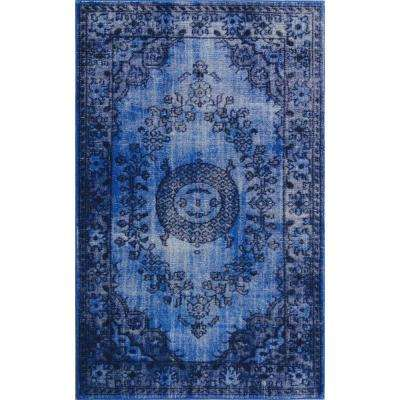 Istanbul Dark Blue 5 ft. x 8 ft. Indoor Area Rug