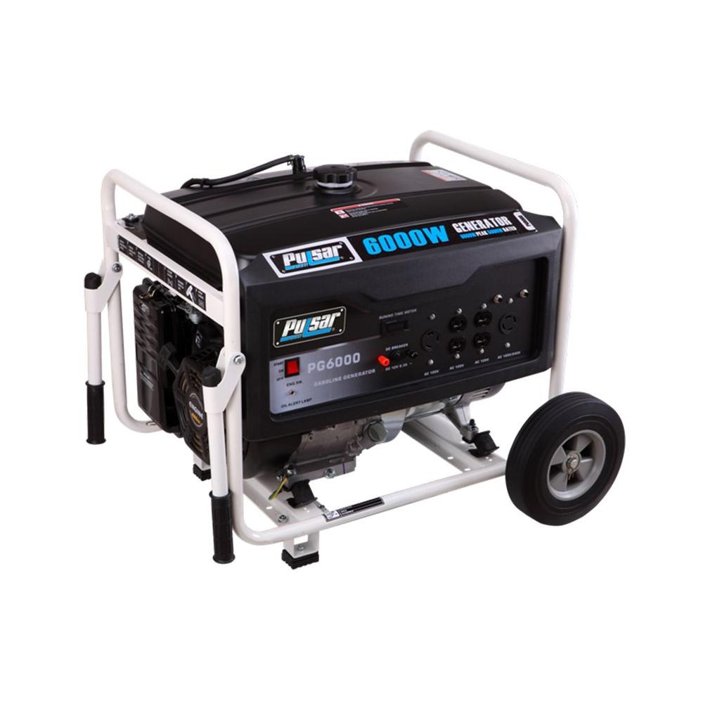 Pulsar 6,000/5,000-Watt Gasoline Powered Recoil Start Portable Generator with 302 cc Ducar Engine