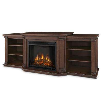 Valmont 76 in. Media Console Electric Fireplace TV Stand in Chestnut Oak