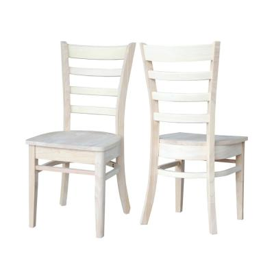 Emily Unfinished Wood Dining Chair (Set of 2)