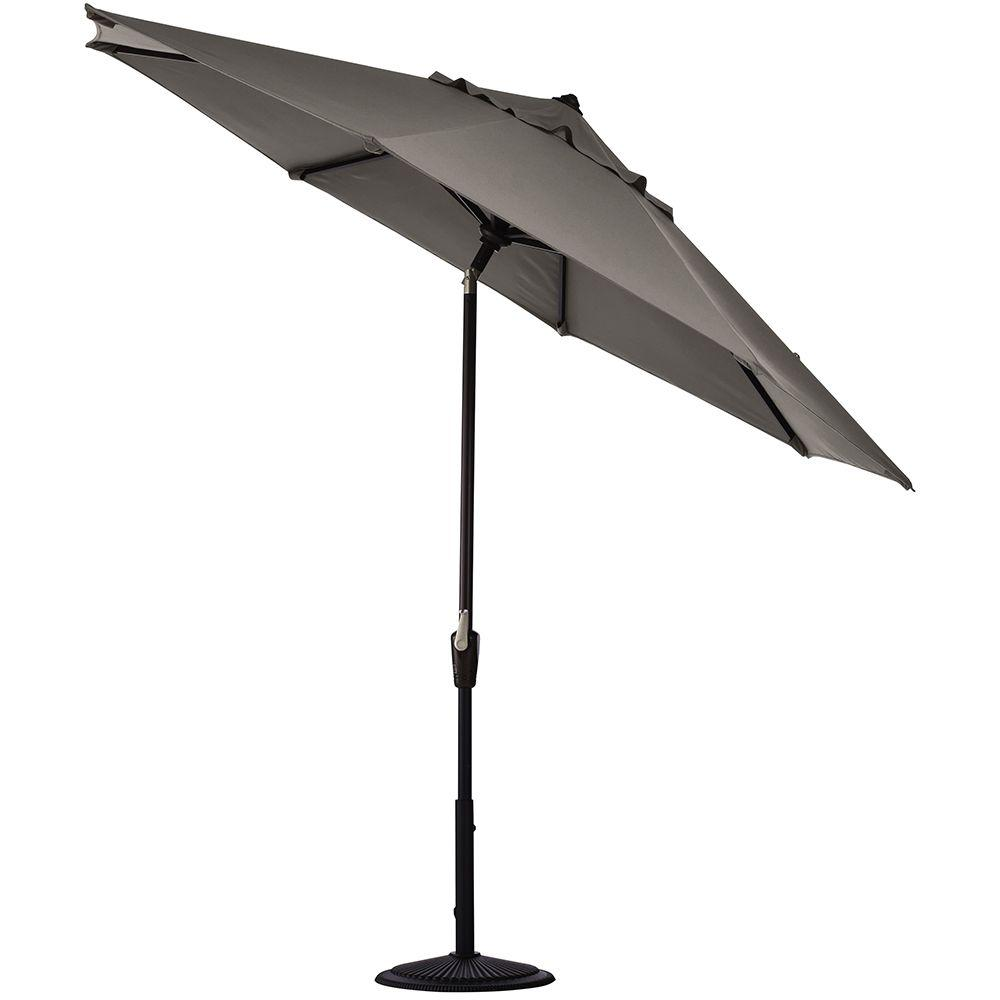 Home Decorators Collection 6 ft. Auto Tilt Patio Umbrella in Graphite Sunbrella-DISCONTINUED