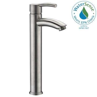 Quartet Single Hole Single-Handle Bathroom Faucet in Brushed Nickel