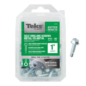 #3 Drill Point 1-1//4 Length 1-1//4 Length Small Parts 1220KWN Hex Drive Zinc Plated Finish #12-14 Thread Size Pack of 1500 Steel Self-Drilling Screw Sealing Hex Washer Head With EPDM Washer Pack of 1500
