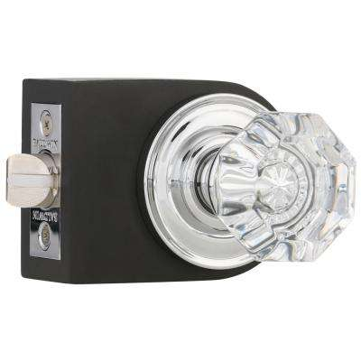 Beautiful Filmore Polished Chrome Bed/Bath Crystal Knob