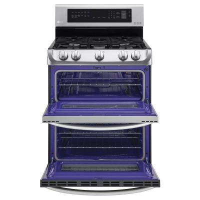 6.9 cu. ft. Double Oven Gas Range with ProBake Convection Oven, Self Clean and EasyClean in Stainless Steel