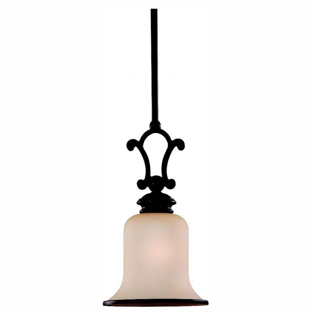 Sea Gull Lighting Acadia 1-Light Misted Bronze Mini Pendant