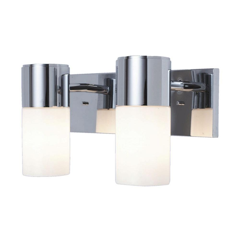 USE Form One 2-Light Wall Sconce in Polished Chrome-DISCONTINUED