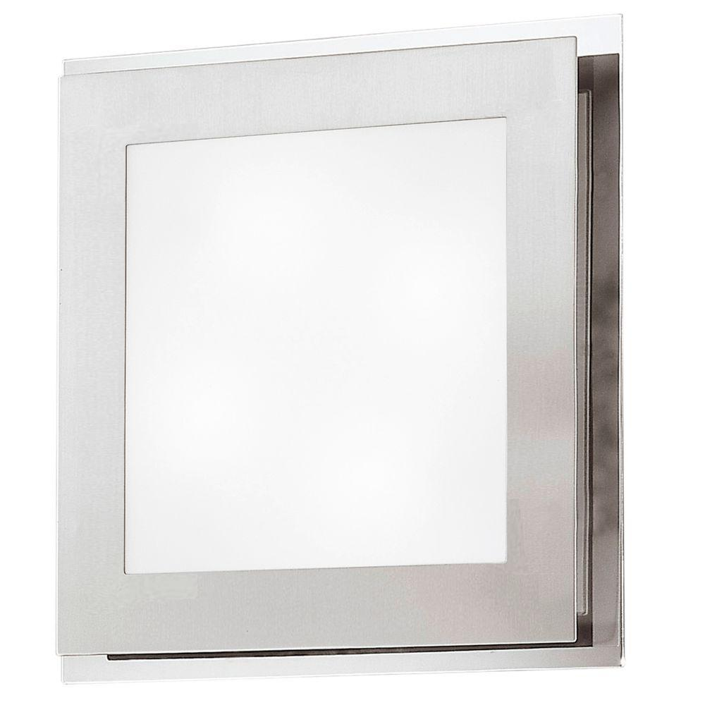 null Eos 2-Light Matte Nickel Ceiling and Wall Surface Mount Light