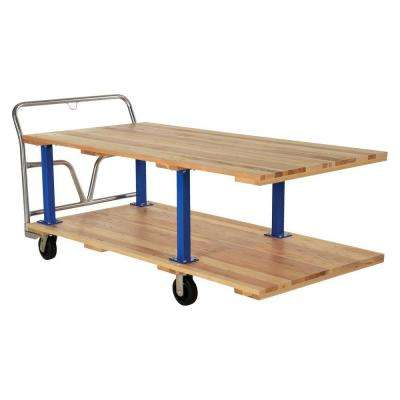 1,600 lb. Capacity 36 in. x 72 in. Double Deck Hardwood Platform Cart