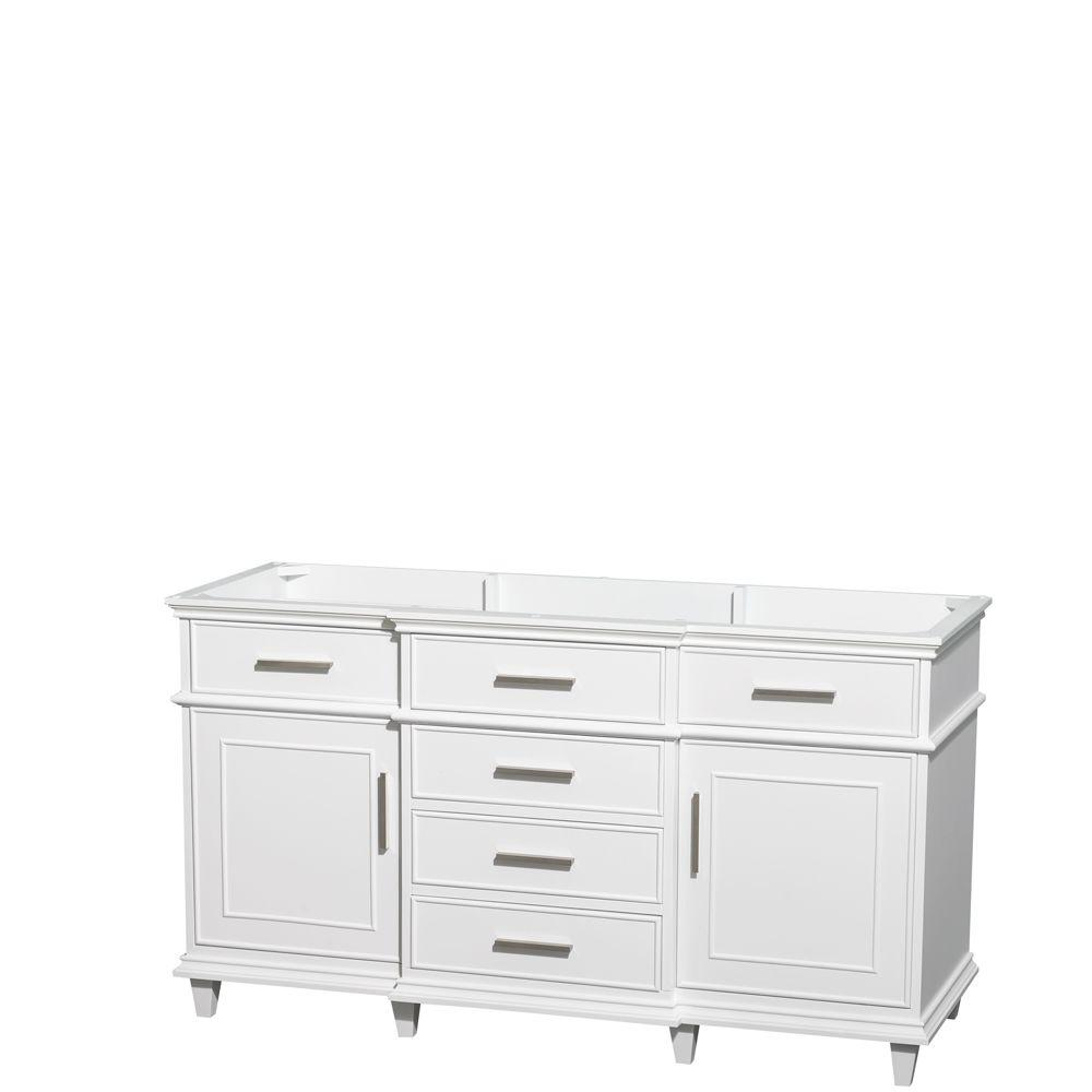 Perfect Wyndham Collection Berkeley 60 In. Vanity Cabinet Only In White