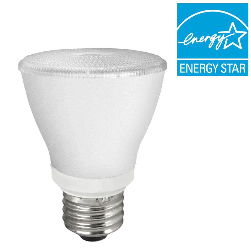 TCP 50W Equivalent Bright White (3000K) PAR20 LED Flood Light Bulb