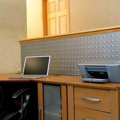 Dome 96 in. x 48 in. Decorative Wall Panel in Crosshatch Silver