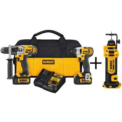 20-Volt MAX Lithium-Ion Cordless Hammer Drill/Impact Driver Combo Kit (2-Tool) with Bonus Drywall Cut-Out Tool