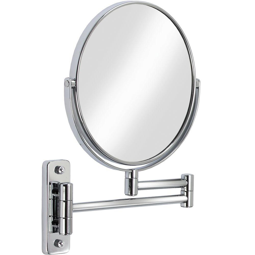 Better Living Cosmo 8 in. x 8 in. Wall Makeup Mirror in Chrome
