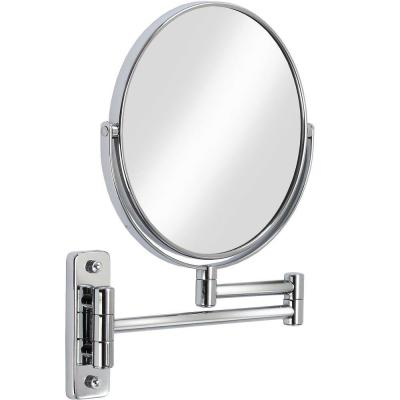 Cosmo 8 in. x 8 in. Wall Makeup Mirror in Chrome