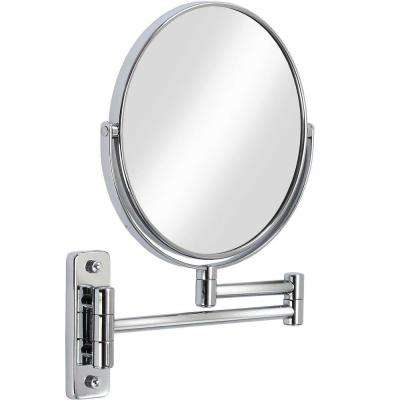 Cosmo 8 in. x 8 in. Wall Mirror in Chrome