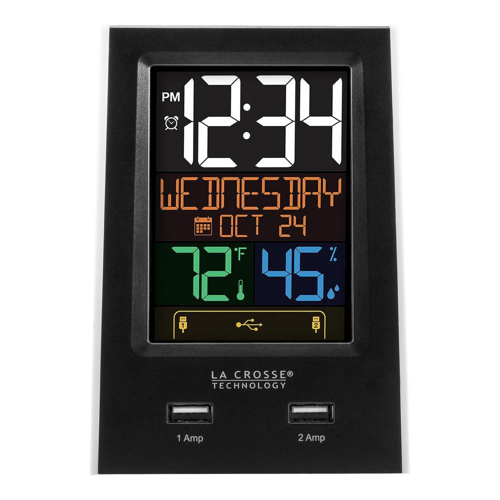 Desktop Dual USB Charging Clock with Alarm and Nap Timer