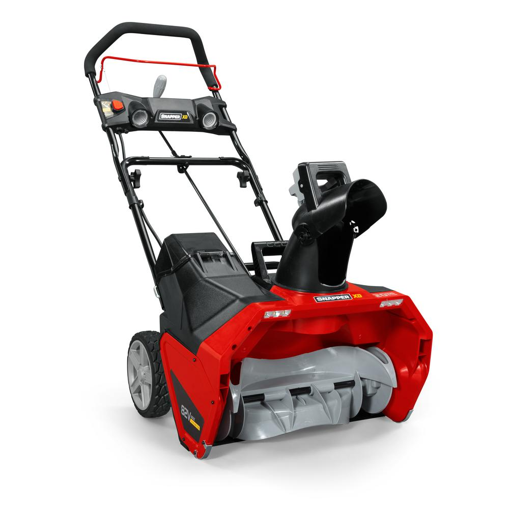 Snapper XD 20 in. 82-Volt Lithium-Ion Single-Stage Cordless Electric Snow Blower Battery and Charger Included