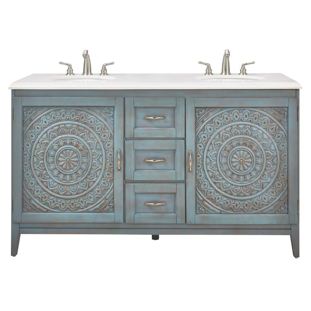 Home decorators collection chennai 61 in w engineered - Home depot bathroom vanity countertops ...