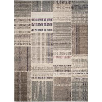 Monaco Gray/Multi 9 ft. x 12 ft. Area Rug