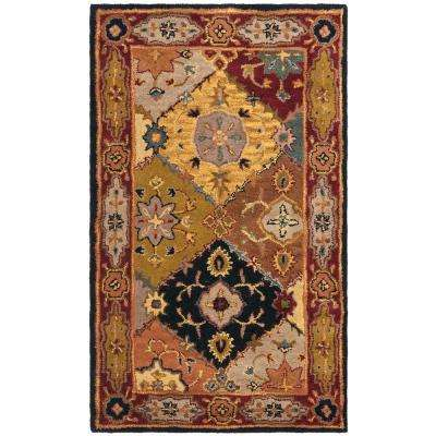 Heritage Multi/Red 3 ft. x 5 ft. Area Rug