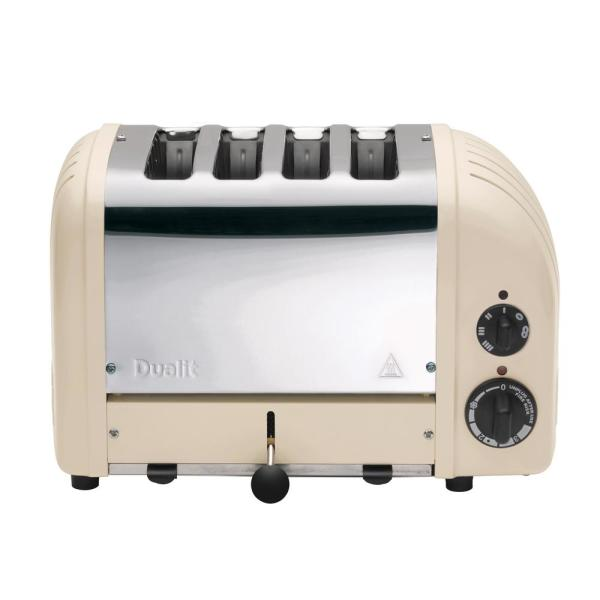 Dualit New Gen 4-Slice Utility Cream Wide Slot Toaster with Crumb