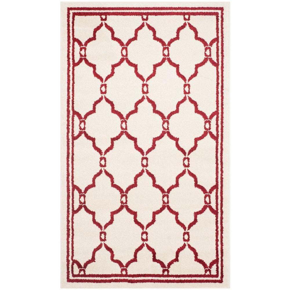 Safavieh Amherst Ivory/Red 4 ft. x 6 ft. Indoor/Outdoor Area Rug