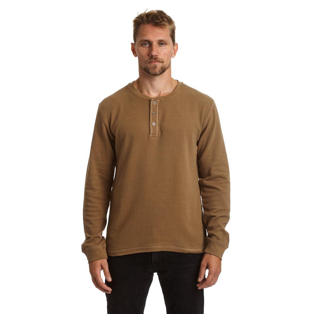 Stanley men 39 s large ermine long sleeve waffle henley shirt for Best henley long sleeve shirts