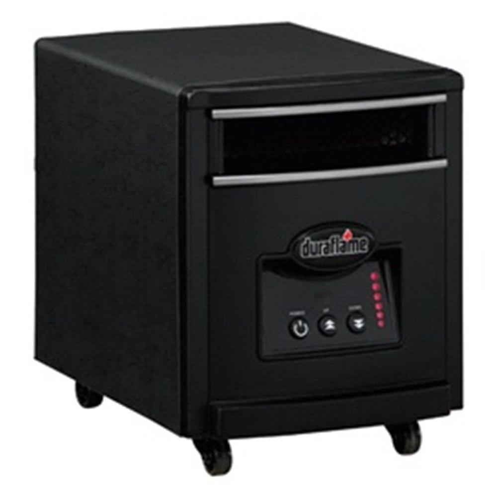 Duraflame 1000-Watt Infrared Quartz Electric Portable Heater - Black Steel Finish