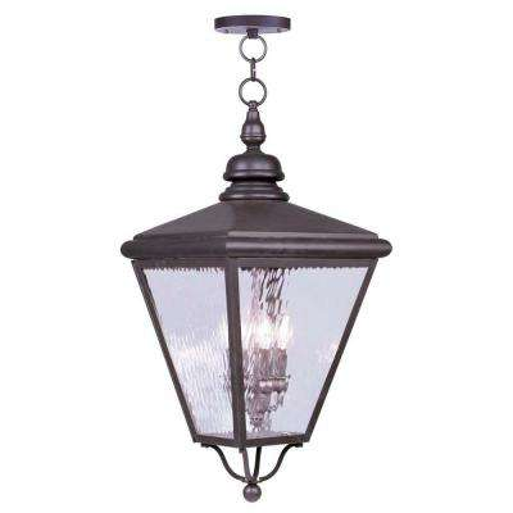 Providence 4-Light Bronze Outdoor Incandescent Pendant