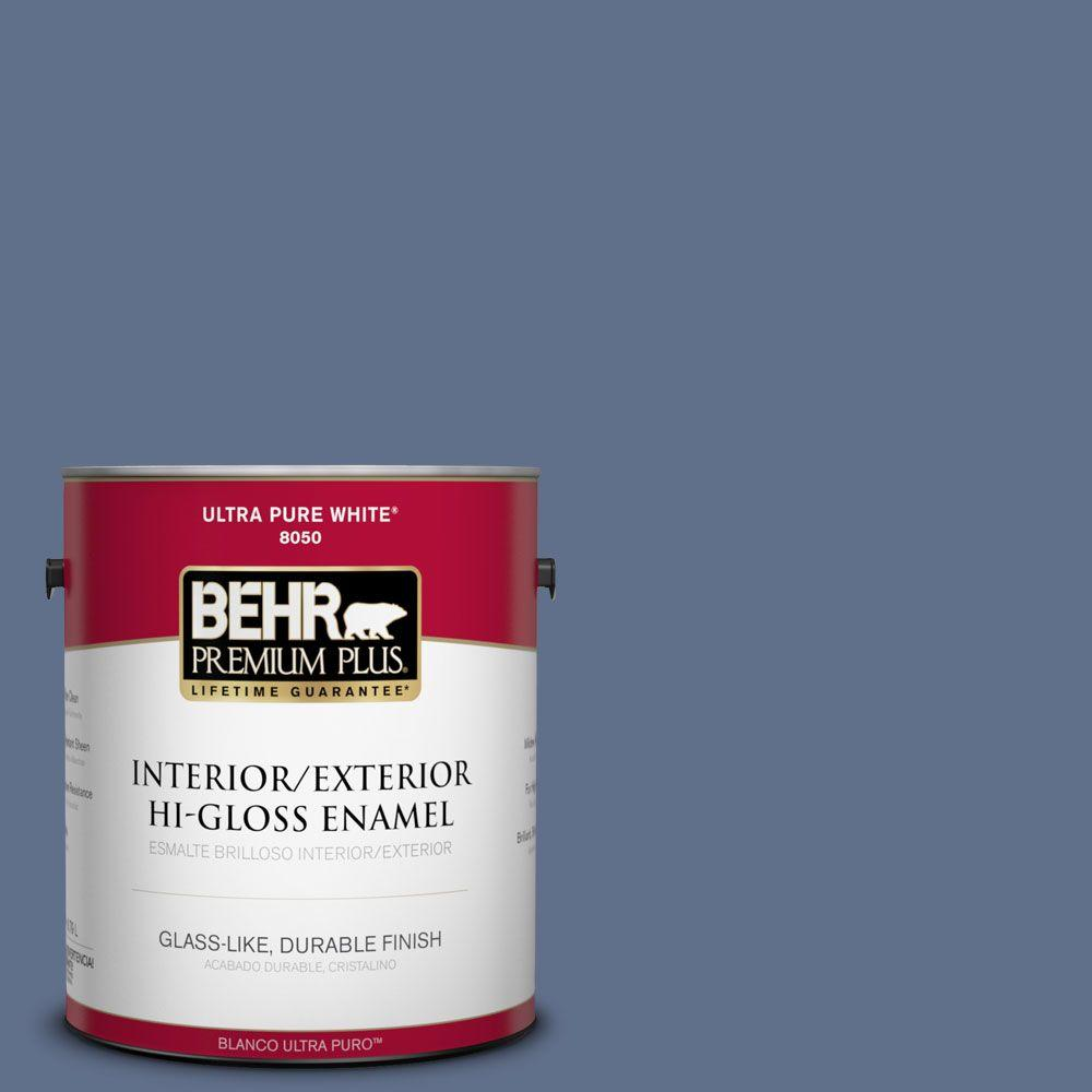 1-gal. #600F-6 Atlantic Blue Hi-Gloss Enamel Interior/Exterior Paint
