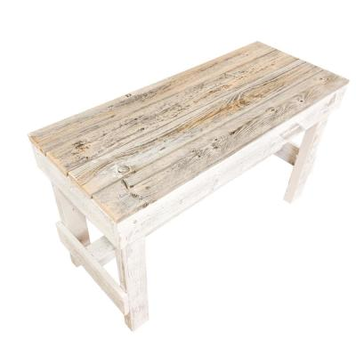 19.5 in. H Natural/White Reclaimed Wood Bench
