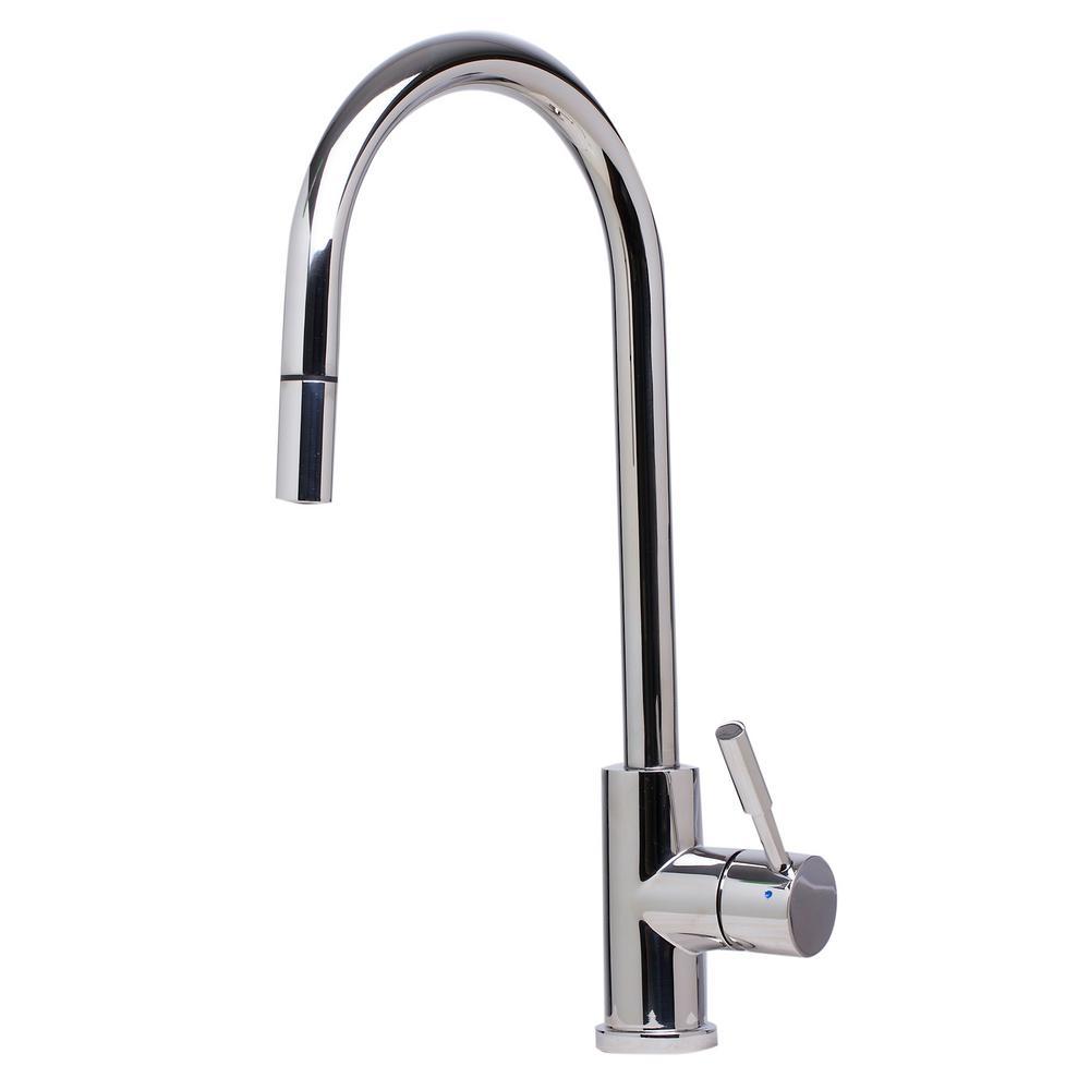 ALFI BRAND Single-Handle Pull-Down Sprayer Kitchen Faucet