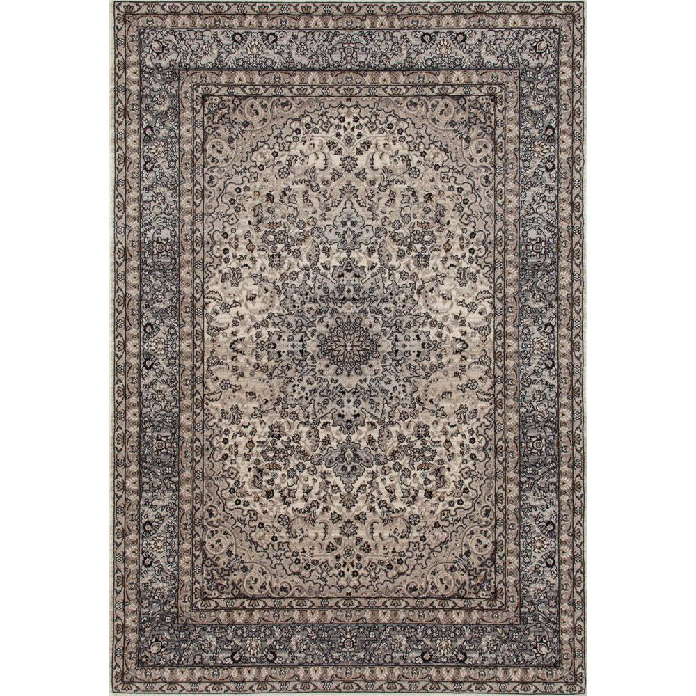 World Rug Gallery Traditional Oriental High Quality Gray Medallion