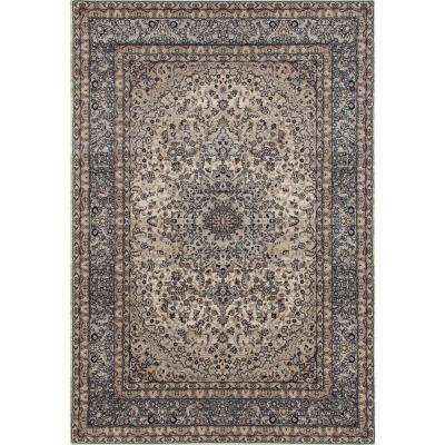 Traditional Oriental High Quality Gray Medallion Design 8 ft. x 10 ft. Area Rug