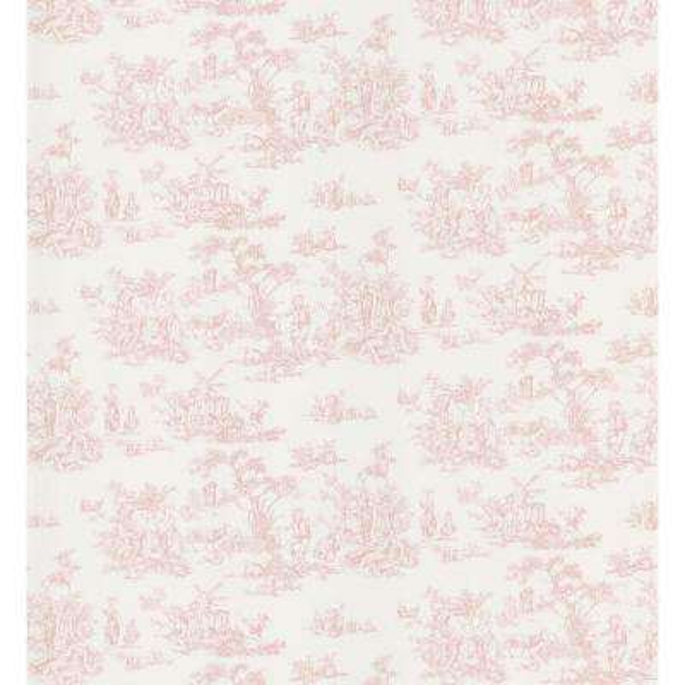 Cottage Living Pink Toile Wallpaper Sample