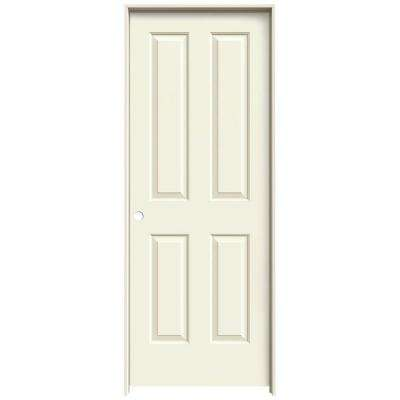 30 in. x 80 in. Coventry Vanilla Painted Right-Hand Smooth Molded Composite MDF Single Prehung Interior Door
