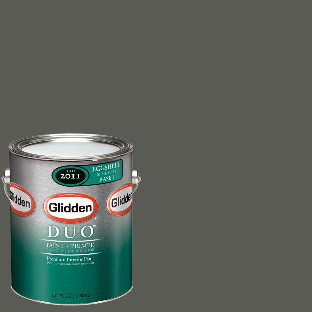 Glidden DUO Martha Stewart Living 1-gal. #MSL252-01E Ground Pepper Eggshell Interior Paint with Primer-DISCONTINUED