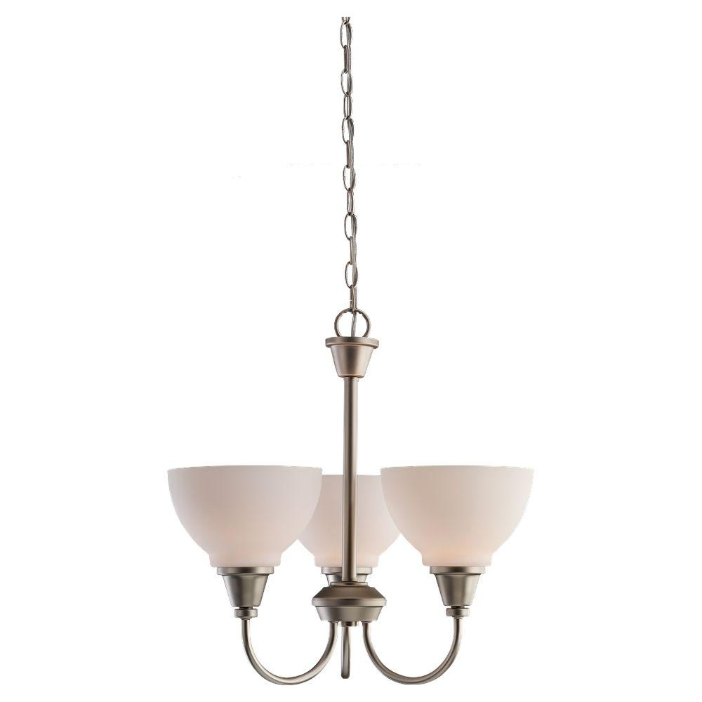 Sea Gull Lighting Sydney 3-Light Golden Pewter Single Tier Chandelier-DISCONTINUED