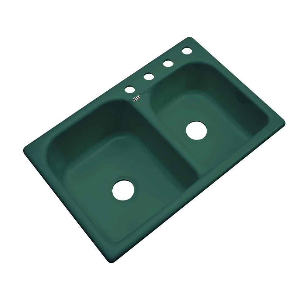 Thermocast Cambridge Drop In Acrylic 33 In 4 Hole Double