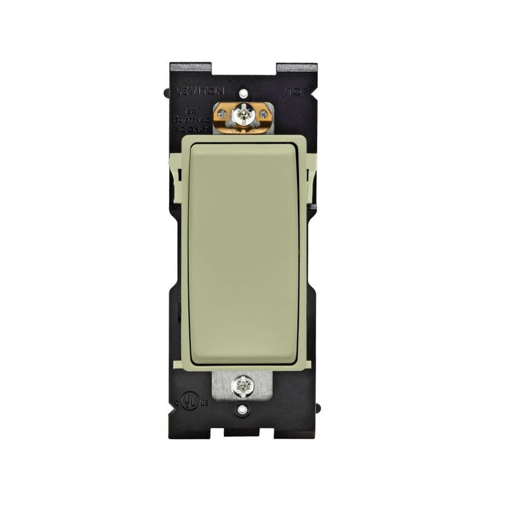 Leviton Renu 15-Amp 3-Way Rocker Switch - Prairie Sage-DISCONTINUED