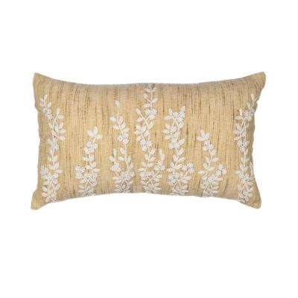 Classic Stems Beige/Cream Decorative Pillow